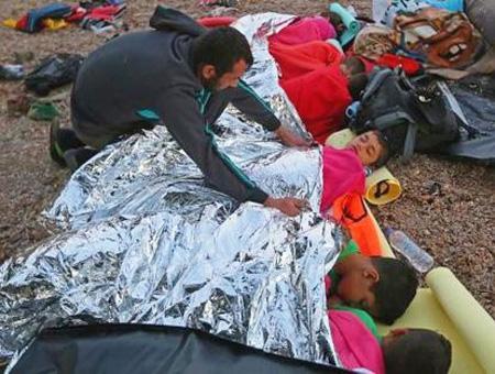 Grecia refugiados lesbos hipotermia