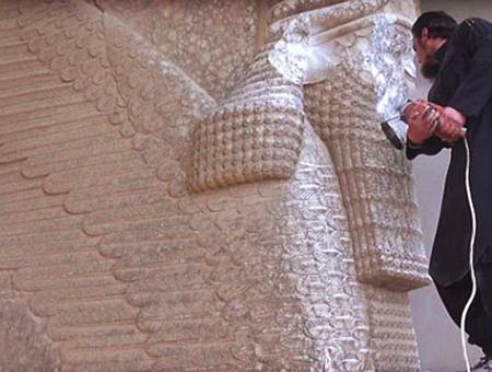 Irak mosul is estatuas