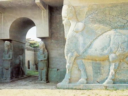 Irak nimrud ruinas asiria