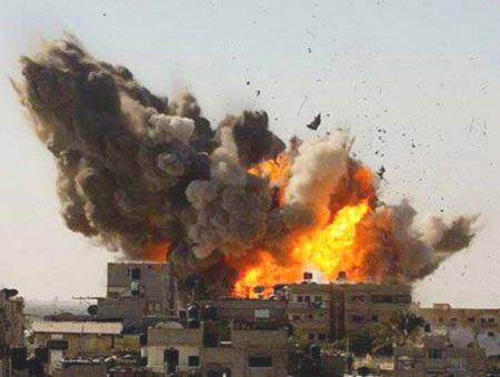 Siria explosion bombardeo