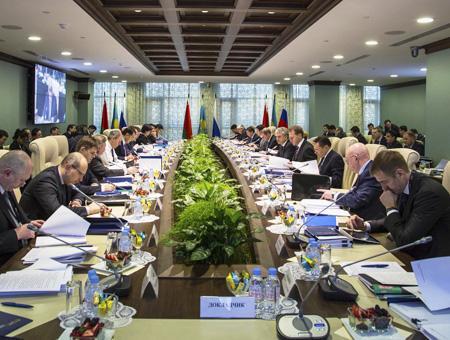 Una reunión de la Comisión Euroasiática celebrada en julio de 2014 en Moscú