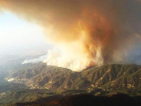 Chipre incendio forestal