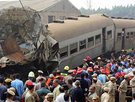 Egipto accidente tren