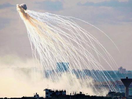 Gaza bomba fosforo blanco