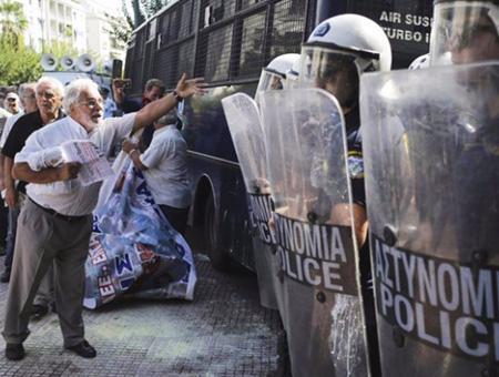 Grecia protestas jubilados