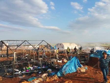 Siria bombardeo campo refugiados