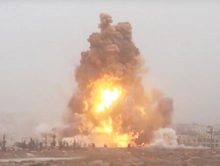Siria explosion alepo