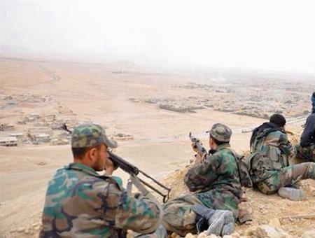 Siria fuerzas sirias palmira