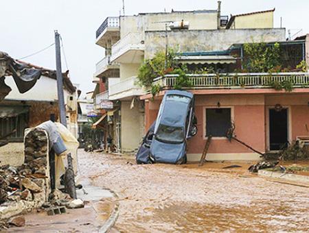 Grecia inundaciones atica