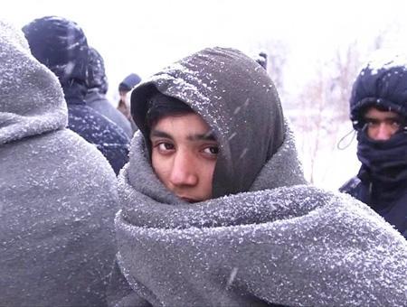 Grecia refugiados nieve