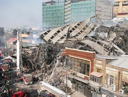Iran torre plasco derrumbe