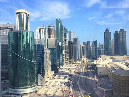 Imagen de la capital de Qatar, Doha