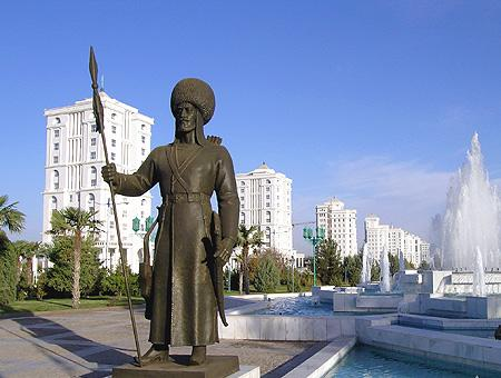 Una imagen de la capital de Turkmenistán, Asjabad