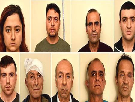 Fotografías de los 9 miembros del DHKP-C detenidos en noviembre en Grecia