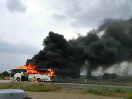 Grecia incendio autobus evros