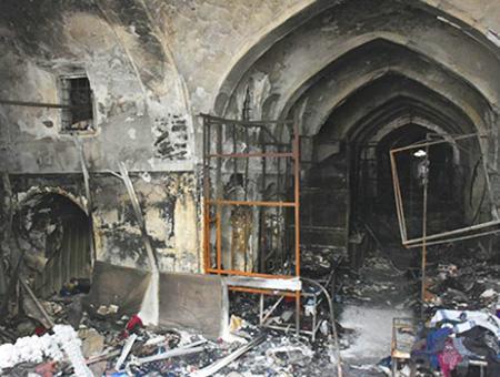 Irak kirkuk incendio bazar otomano(1)