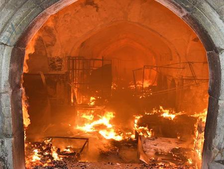 Irak kirkuk incendio bazar otomano