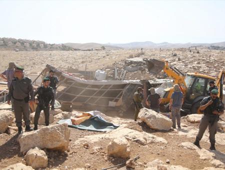 Israel demolicion poblado abunuwar