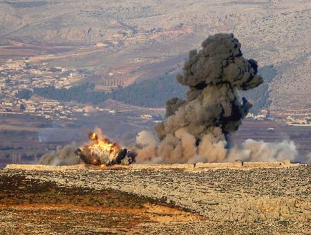 Siria afrin explosion bombardeos