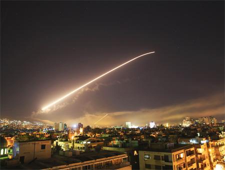 Siria damasco ataque aereo