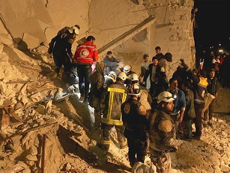 Siria idlib explosion rescate