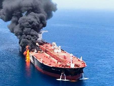 Golfo persico petrolero atacado