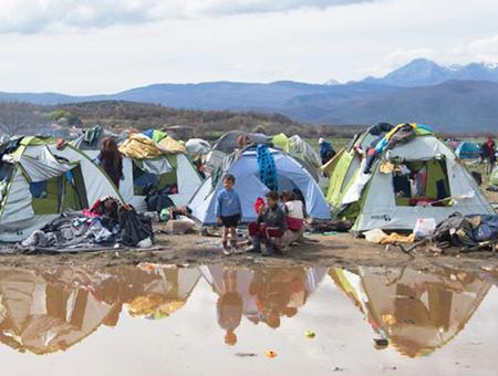 Grecia campos inmigrantes refugiados