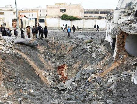 Siria idlib explosion bomba barril
