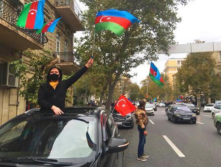 Azerbaiyan celebraciones victoria shusha karabaj