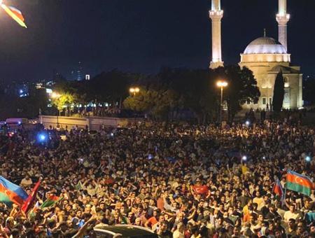 Azerbaiyan protestas armenia