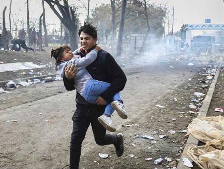 Grecia frontera refugiados huida