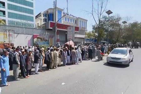 Afganistan colas bancos kabul