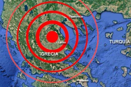 Grecia terremoto seismo larisa