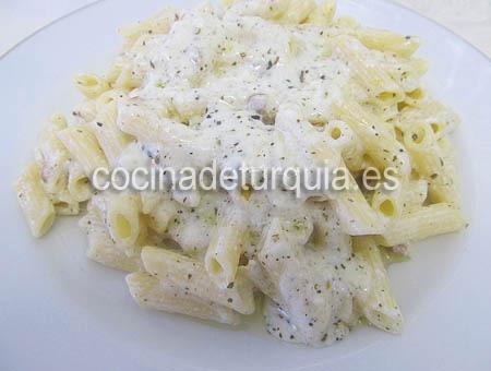 Macarrones yogur