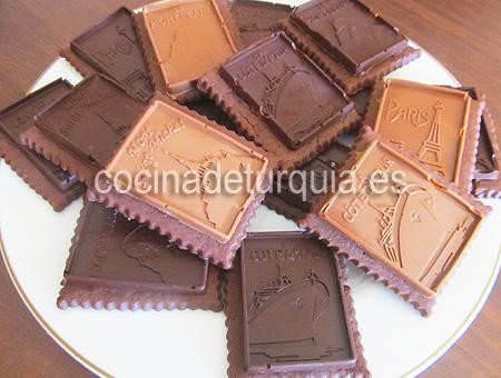 Galletas chocolate negro leche