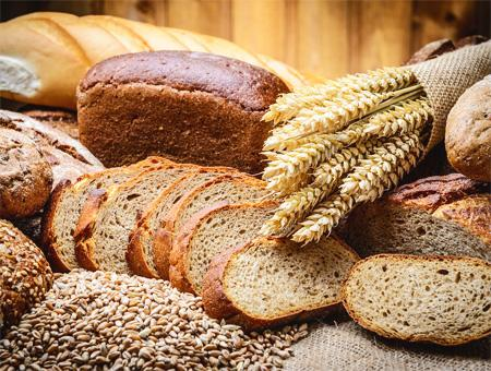 Alimentos cereales pan trigo cebada