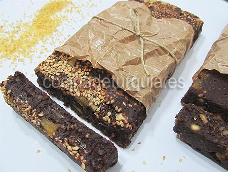Turrón de chocolate con bulgur