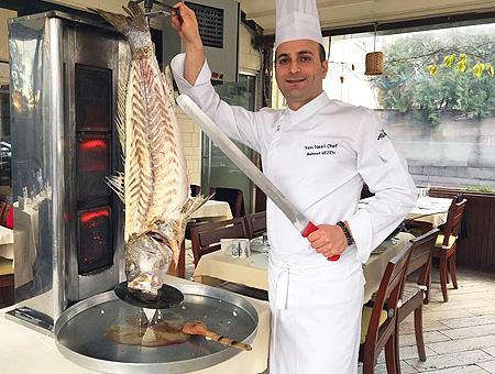 Ankara chef doner kebab pescado
