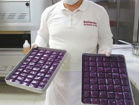 Ankara pasteleria baklava violeta