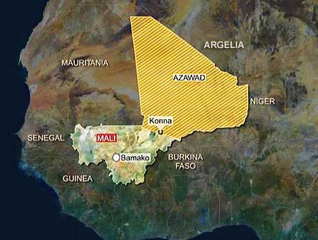 Mali rebeldes azawad