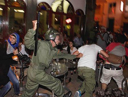 Protestas marruecos