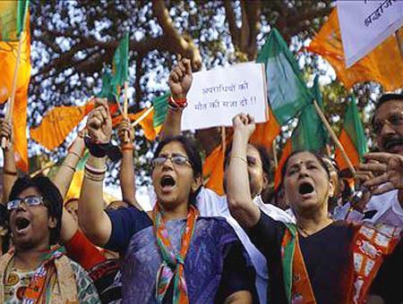 Protestas mujeres india