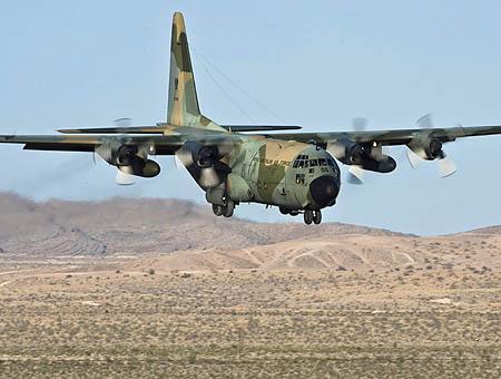 Imagen de un avión militar Hércules C130 como el del accidente