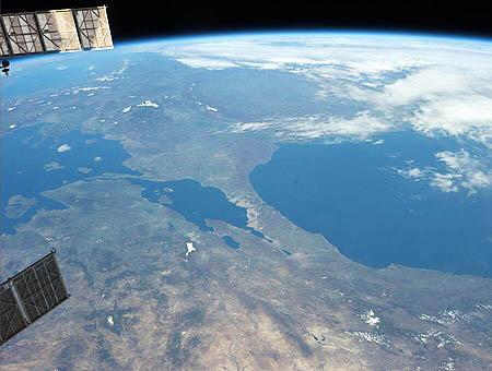 Foto tomada desde el espacio y difundida por el astronauta
