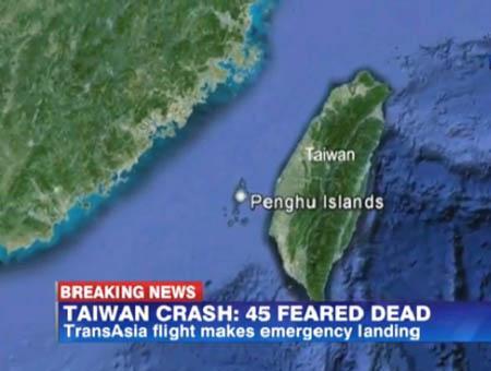 Taiwan accidente aereo