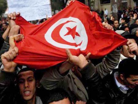 Tunez manifestacion