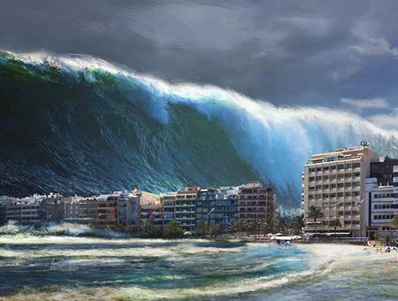 Tsunami maremoto simulacion