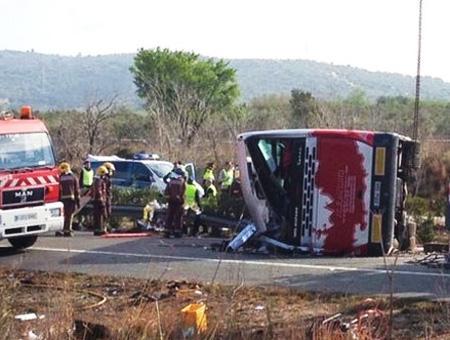 Espana accidente autobus