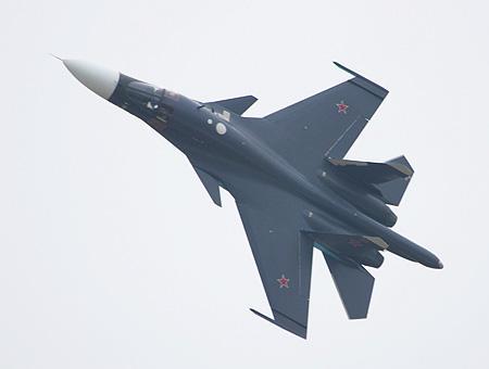 Un caza bombardero ruso Su-34