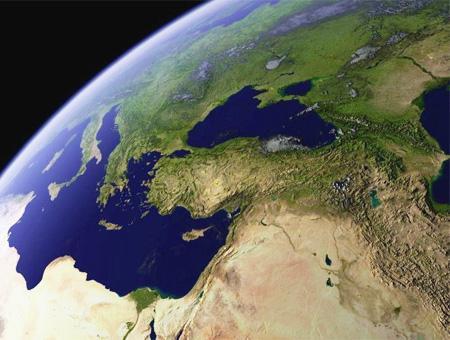 Espacio tierra turquia orientemedio